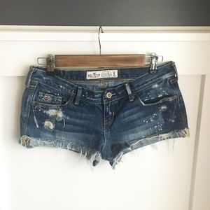 Hollister Splatter Paint Shorts, 5